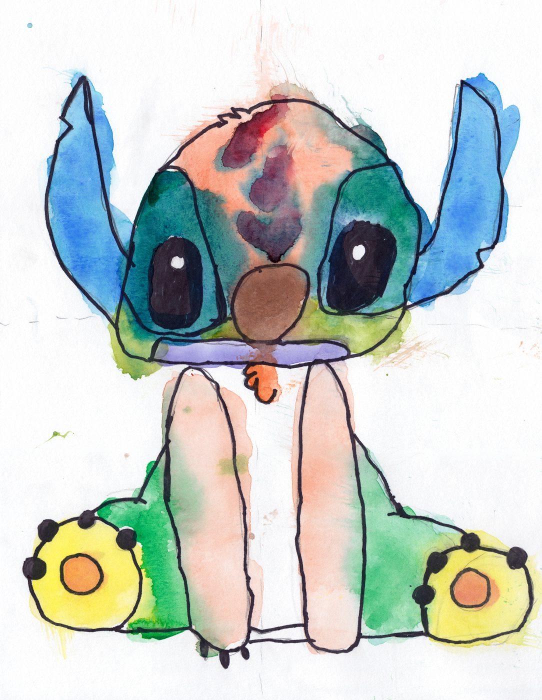 Stitch • Cartoon Art class (March, 2018)