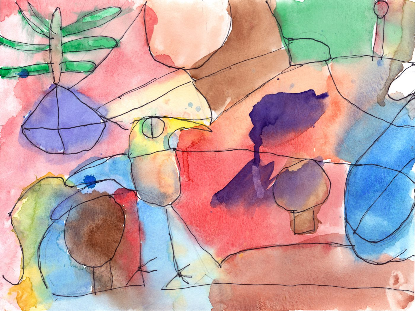 Untitled • Paul Klee Art class (May, 2018)