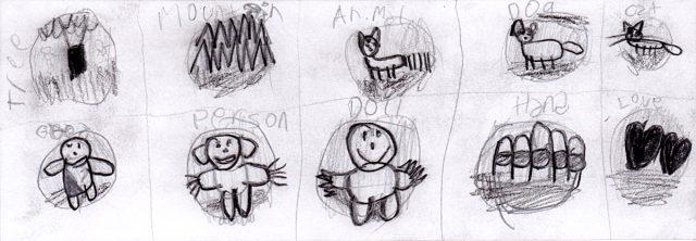 Preliminary sketch for Ten Little Subjects (Jun 7)