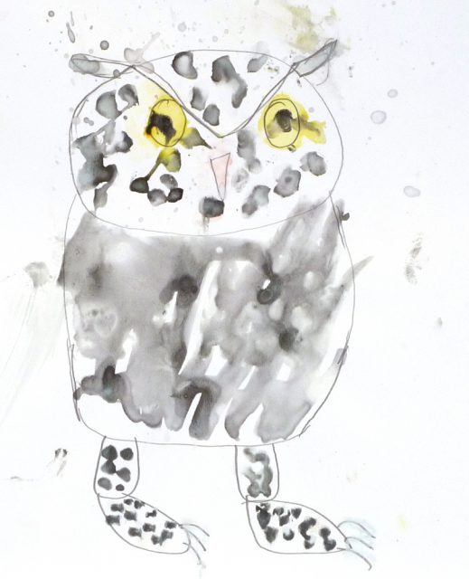 Owl in watercolor (7/24)