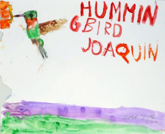 Hummingbird in watercolor (7/25)