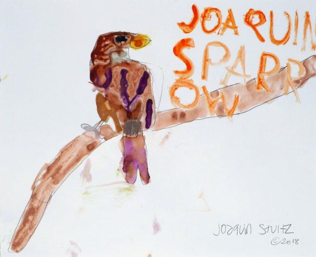 Sparrow in watercolor (7/25)
