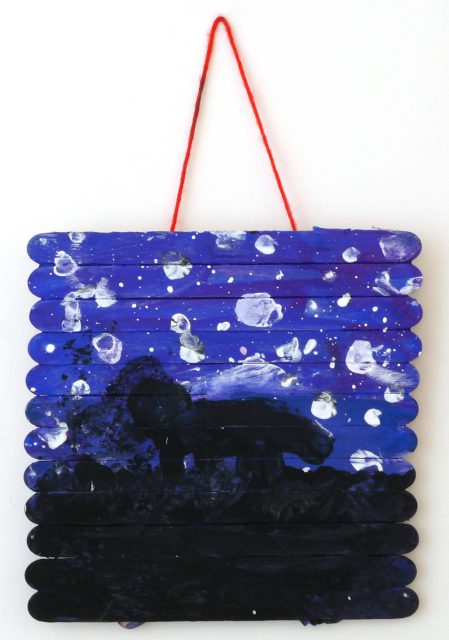 Wolf at night • Galaxy Art (Aug 13–14, 2018)