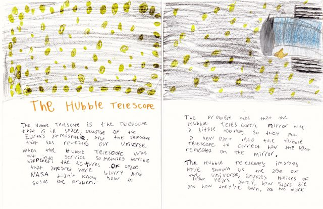 The Hubble Telescope (double two-page spread) • Miscellaneous Book (Jul 2018)