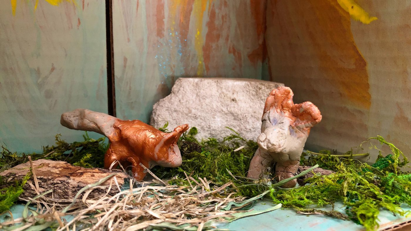 Foxes diorama detail (Mar 8, 2019)