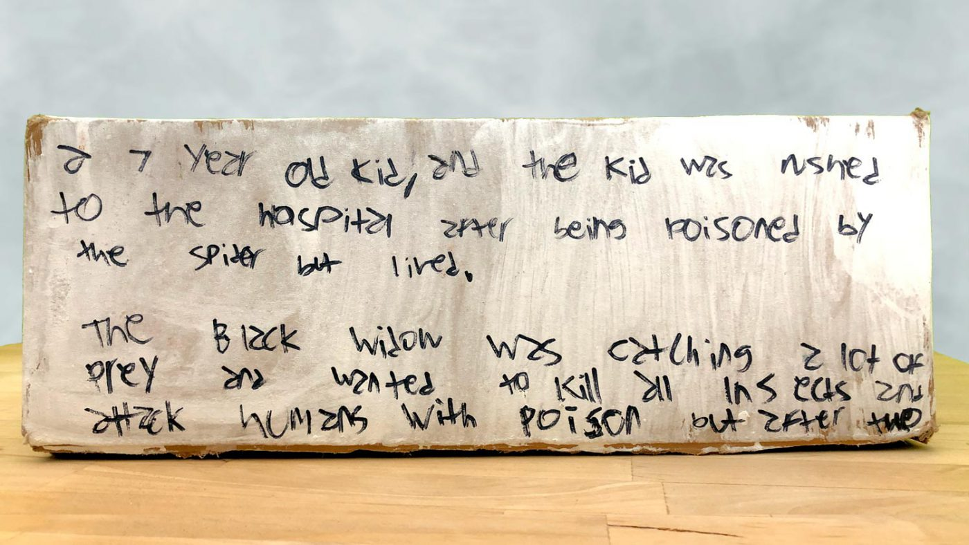 Part 3 of the story written on a side of the box